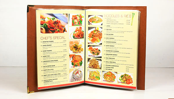 We have menu cover in stock and ready for you