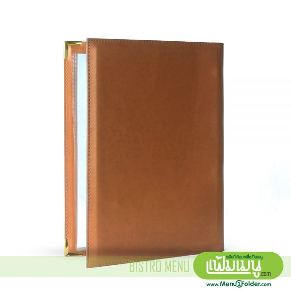 Menu Covers in Brown leather