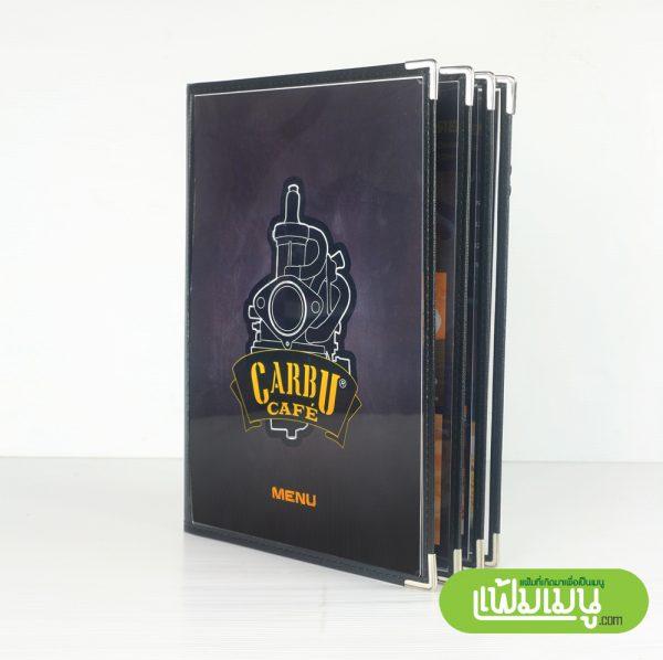 แฟ้มเมนูเล่ม Loft 8 หน้า- menu cover bangkok