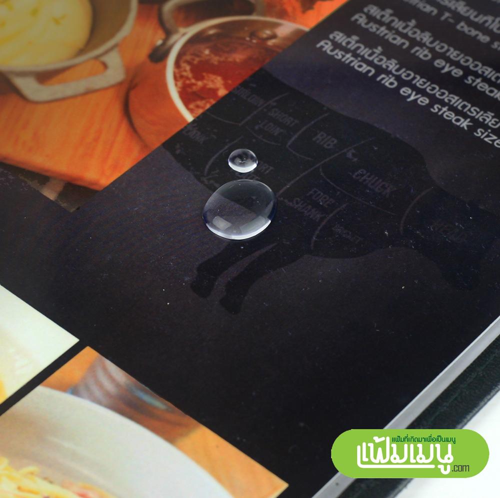 แฟ้มเมนูปกใสกันน้ำ Loft 8 หน้า- menu cover shop thailand