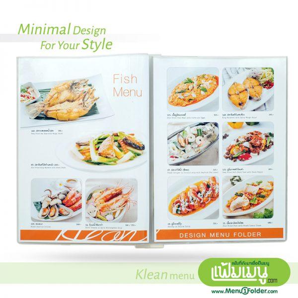 Minimal style แฟ้มเมนู Klean Menu book