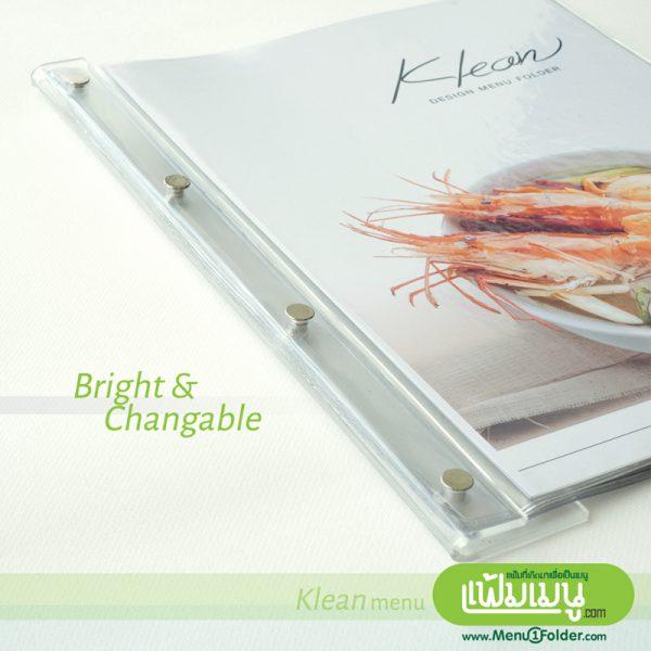 แฟ้มเมนู สวย ทันสมัย minimal style menu book