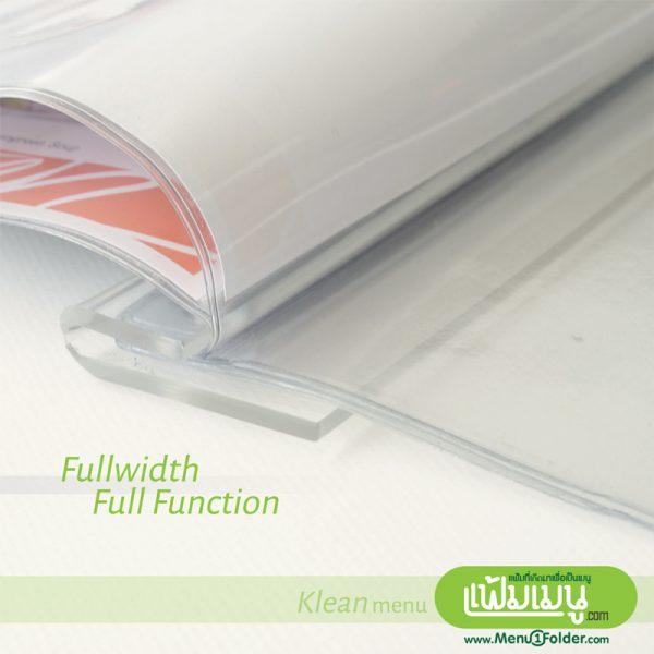 แฟ้มเมนู Acrylic ใส รุ่น Klean menu folder