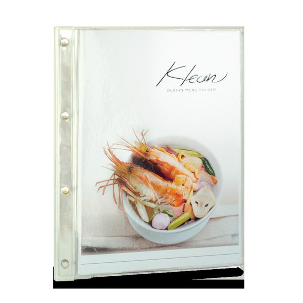Mnimal style menu cover, menu book - refill able menu paper