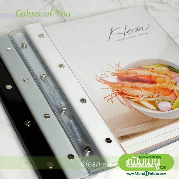 Klean menu book แฟ้มเมนูเล่มสไตล์ใหม่ minimal menu design