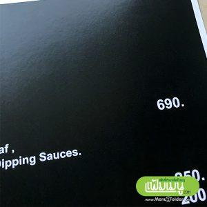 menu printing in full color