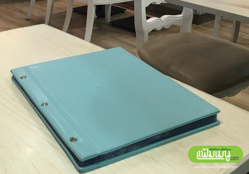แฟ้มเมนูหนังเล่มใหญ่ leather menu folder very big