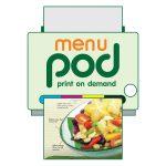 รับพิมพ์เมนูอาหาร จำนวนน้อย ขั้นต่ำเพียง 5เล่ม MENU print-on-demand