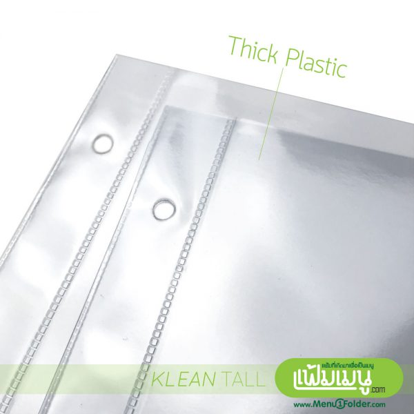 Clear plastic pocket for menu display in Bangkok Thailand