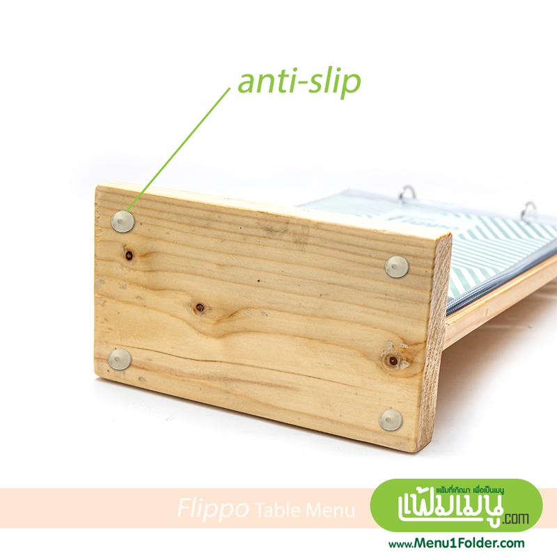 ป้ายตั้งโต๊ะไม้ ฐานแน่น ไม่ตกหล่นง่าย