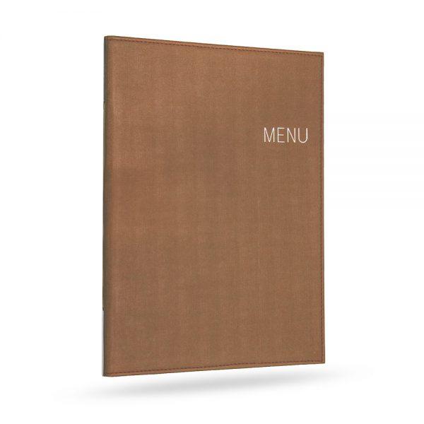 แฟ้มเมนู ปกไหม สีทอง menu cover