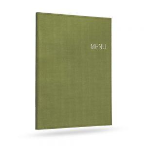แฟ้มเมนู ปกไหม สีเขียว menu cover silk style