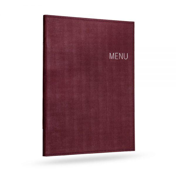 เมนูปกไหม สีแดงเข้ม Red menu cover