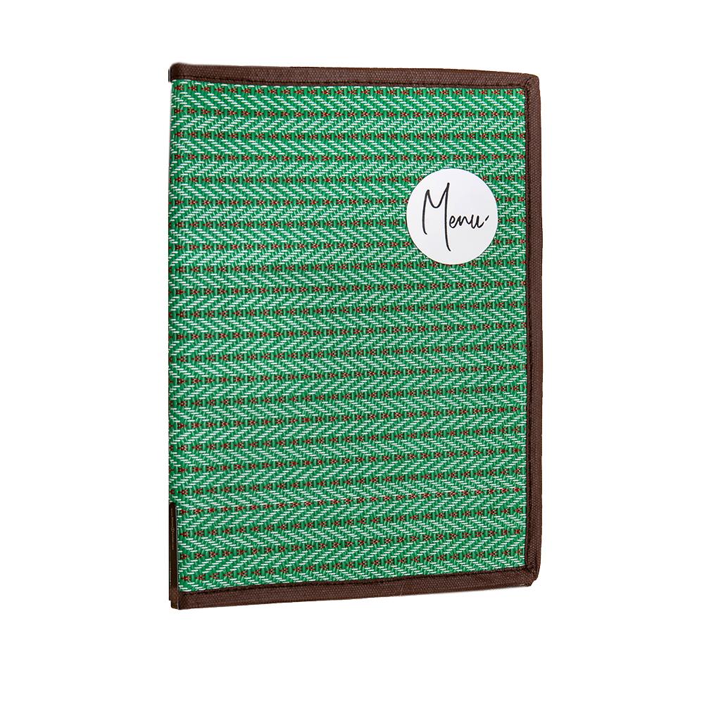 แฟ้มเมนู สไตล์ไทย สีเขียว สวยๆ
