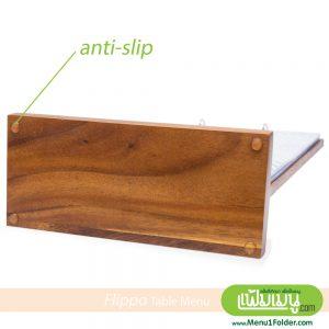 Wood Style Menu Table