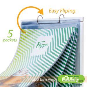 Flip Table Menu with A4 PVC pockets