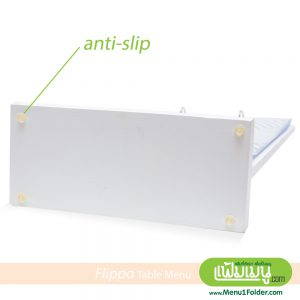 A4 white table menu stand