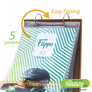 Flip Table Menu with Wood Style
