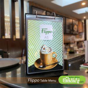 A5 Cafe Table Menu