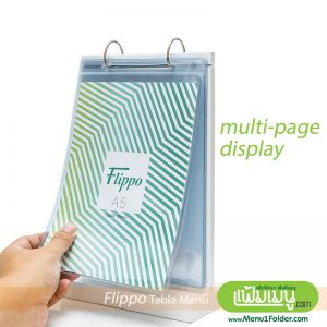 Table Menu Size A5 Multi-page Display