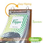 Flippo Wood Table Menu for Easy Flipping