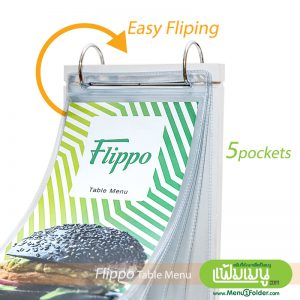 Table Menu Flippo Pure White- Easy Flipping