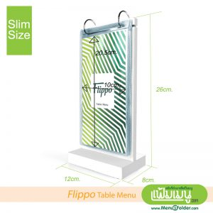 Table Menu Flippo Pure White - Special Size