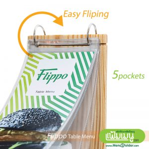 Flip Table Menu with wood style -Easy Flipping