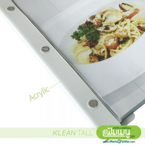 Menu Book with Extra Size A3 Klean Tall Menu Cover