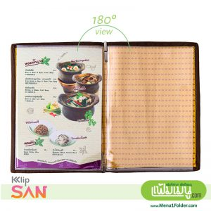 Thai style Menu Cover with Yellow
