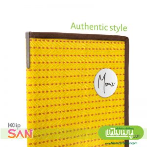 Authentic Style Menu Cover Thai Menu