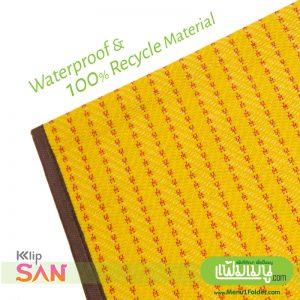 Thai Style Yellow Menu Cover