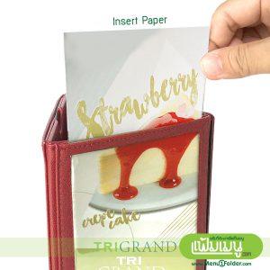 Triangular Table Menu - Insert Paper
