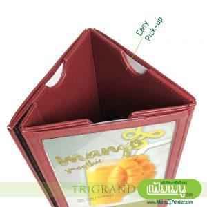 Triangular Table Menu - Easy Pick-Up